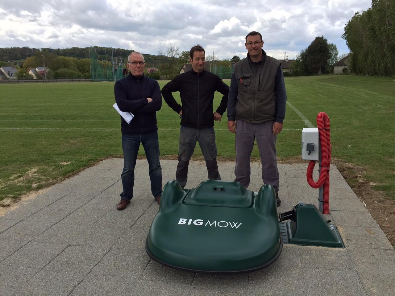 Visuel présentant le résultat de l'installation pour la référence : Les terrains de Foot et de Rugby du CSN Houlgate gérés par une Bigmow